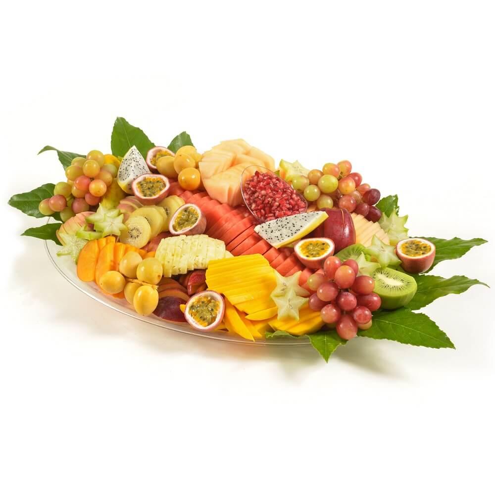 מגש פירות בשלל צבעים וטעמים
