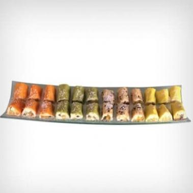 מגשים לאירוח סושי פירות 24 יחידות