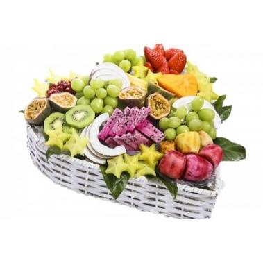 סלסלת פירות לבבית לולנטיין